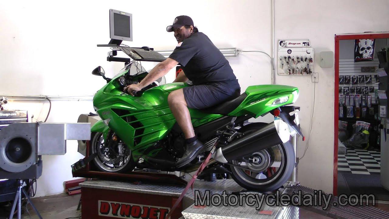 Charmant 2012 Kawasaki Ninja ZX 14R Dyno Run By Motorcycle Daily   YouTube