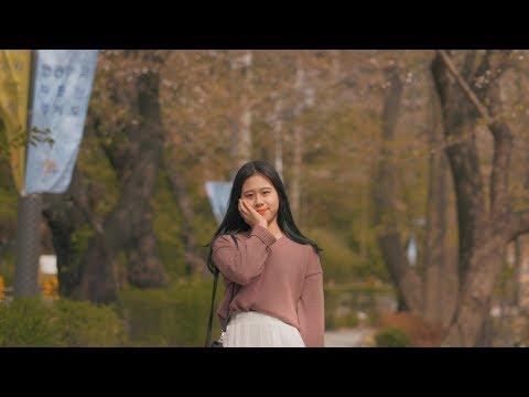 A pretty high-school girl at 2018 Gyeonggi Provincial Government  Cherry Blossom Festival