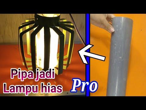 DIY Lamp PVC Pipe (Lampu Hias Hanya Dari Pipa Air)