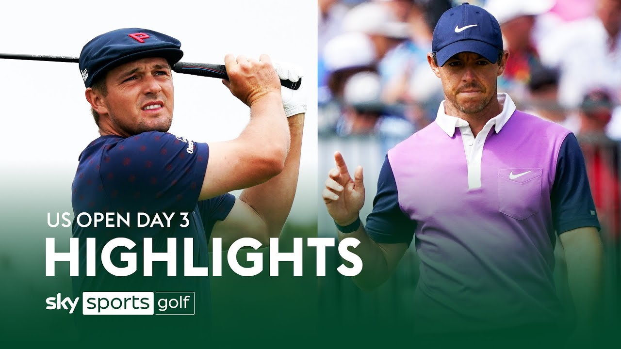 Rory McIlroy and Bryson DeChambeau race into US Open contention!   Day 3   Highlights