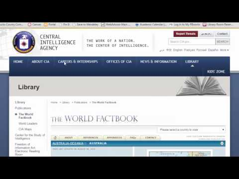 SOCI120 Bucks CCC CIA World Fact Book