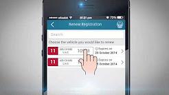 Renew vehicle registration via UAE-MOI App