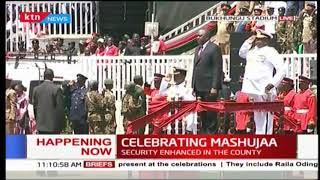 President Uhuru Kenyatta, First Lady arrive at Bukhungu Stadium | #MashujaaDay2018