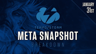 Hearthstone Meta Snapshot Breakdown: January 31st 2017