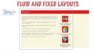 Fluid And Fixed Layouts html