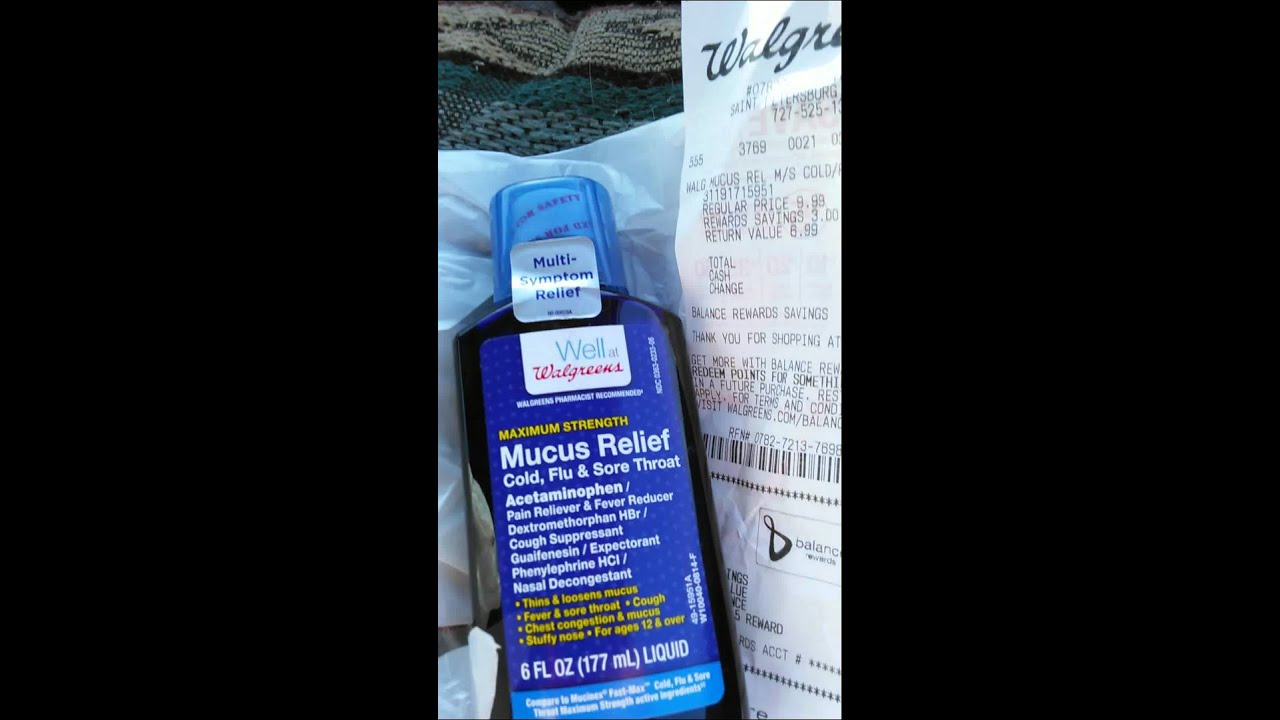 Walgreen Mucus Relief Compare To Mucinex