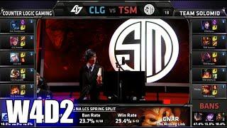 CLG vs TSM | S5 NA LCS Spring 2015 Week 4 Day 2 | Team Solomid TSM vs CLG W4D2G3 VOD 60FPS