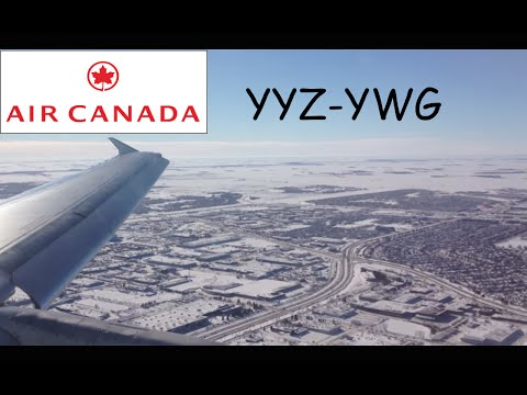 Air Canada A320 beautiful winter landing in Winnipeg. YYZ-YWG