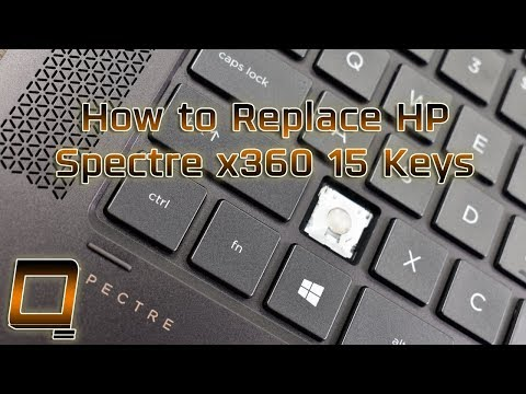 How To Replace HP Spectre X360 15 Laptop Keys