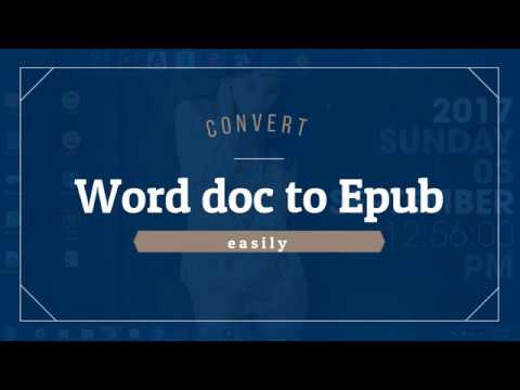 How To Convert A Word Docx File To An EPub