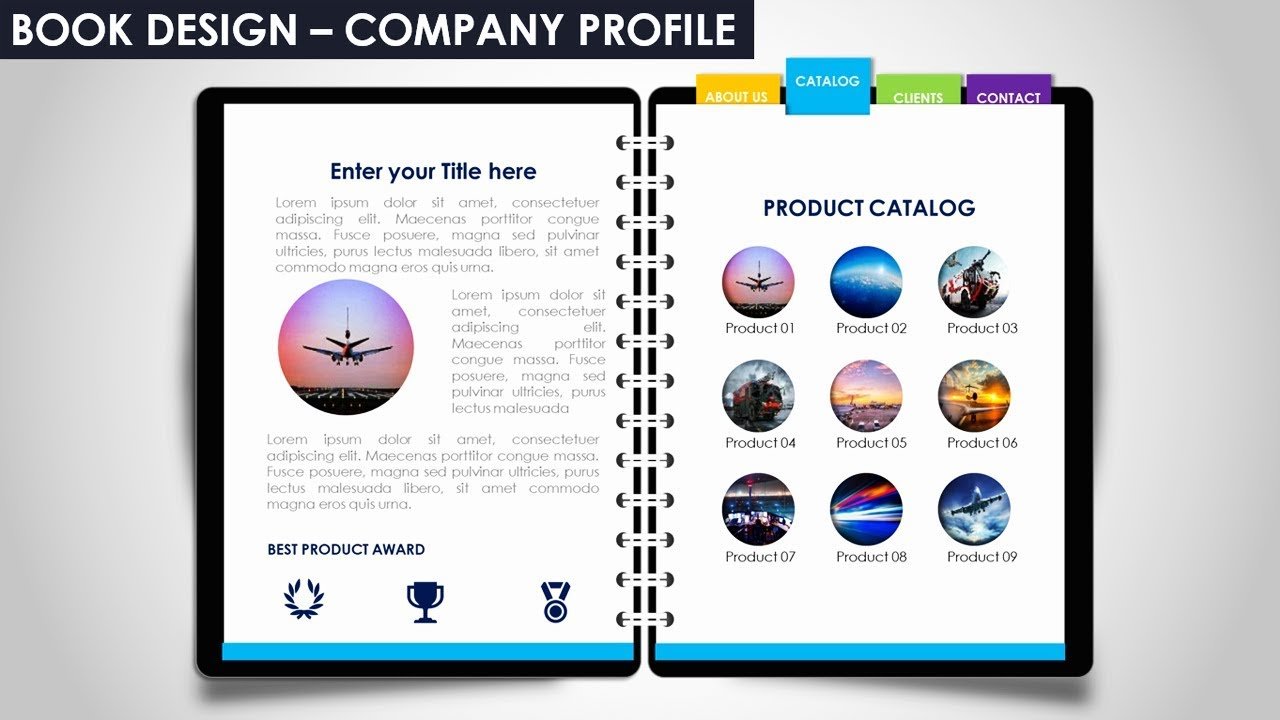 Multipurpose Powerpoint Template Notebook Design Business Infographics Company Profile Free Ppt
