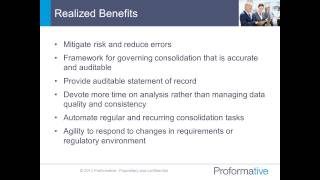 Financial Consolidations and Reporting: The Alignment of People and Technology