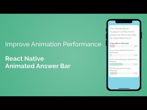 Improve React Native Animation Performance (React Native Animated Answer Bar - Part 7/7) - YouTube