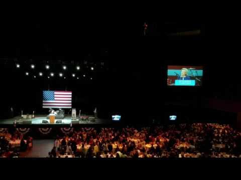 Hillary Clinton speaks at the Bill Graham Civic Auditorium in San Francisco California 10-13-2016