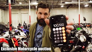 I SPENT $100K at the motorcycle AUCTION ( I WISH I DIDN'T))
