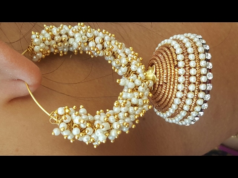 (DIY)How to make party wear Jhumkas.The stunning handmade's..