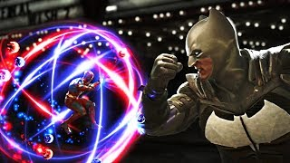 Injustice 2 - ATOM vs Batman All Intros, Clash Quotes And Supermoves
