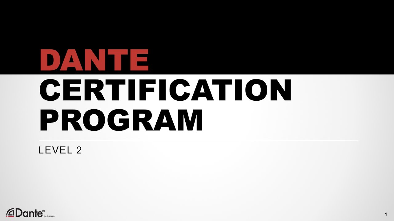 Dante Certification Level 2: #9 Dante Virtual Soundcard