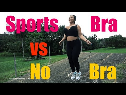 Sports Bra Vs No Bra: Jump Rope Test!