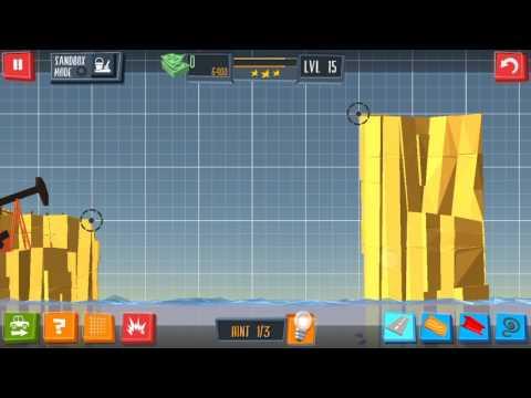 Build a Bridge Level 15 Android 3 star walkthrough
