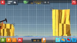 Build a Bridge Level 15 Android 3 star walkthrough