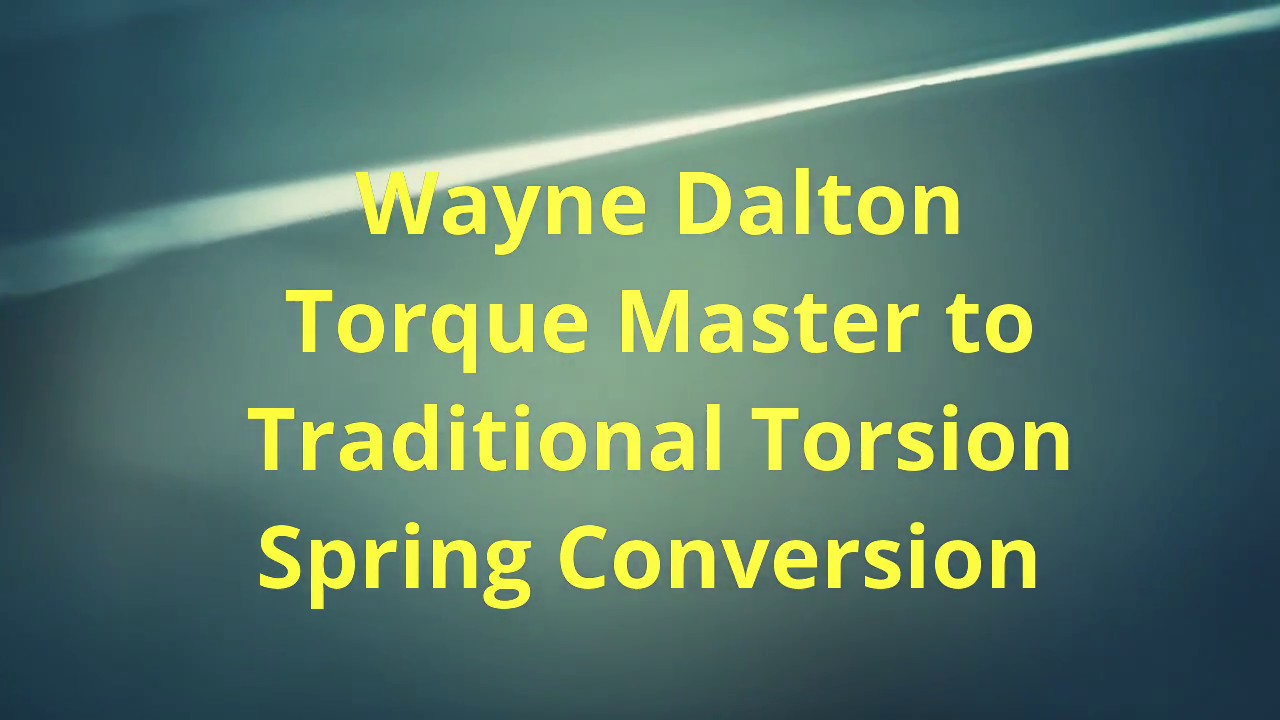 Wayne Dalton Torque Master Garage Door Spring Sytem In Lake Forest
