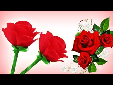 Como Hacer Rosas De Papel Crepe Para Regalar El Dia De Las Madres