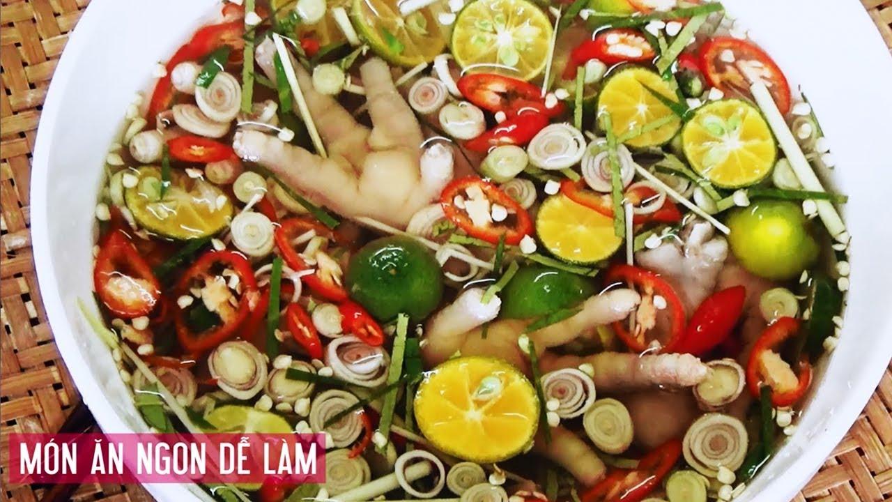 CHÂN GÀ NGÂM SẢ TẮC Chua Chua Ngọt Ngọt Cay Cay | Kieu Cooking | Món Ăn Ngon Dễ Làm