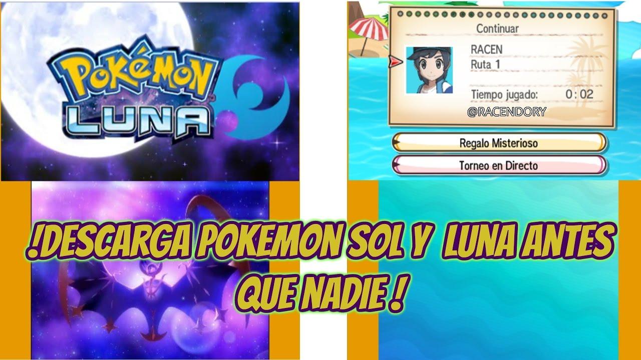 Descargar Pokemon Sol y Luna para Nintendo 3DS y 2DS .CIA ...