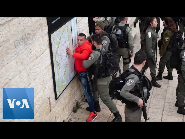 Israeli Police Arrest Palestinian Protesters During Protest Against Trump's Middle East Peace Plan