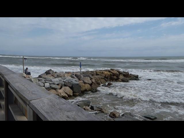 Temporal de gregal a la platja del Prat - Setembre 2019