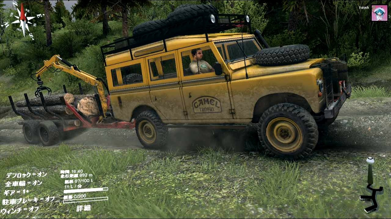 Right Hand Drive Jeep >> Spintires『Land Rover Defender Camel Trophy & Mini Log Trailer v 2.1』 - YouTube