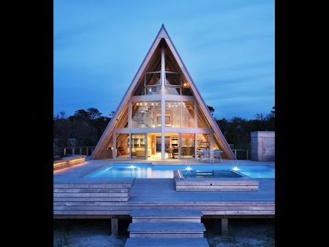 Contemporary Beach Houses – A Frame House with Unique Shape And Open Interior