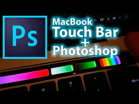 Photoshop and Macbook Pro Touch Bar - first test