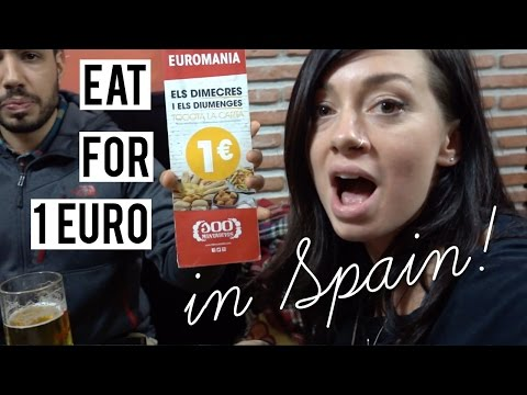 How To Eat For 1 Euro In Spain [Eurotrip Day 11 Of 22]