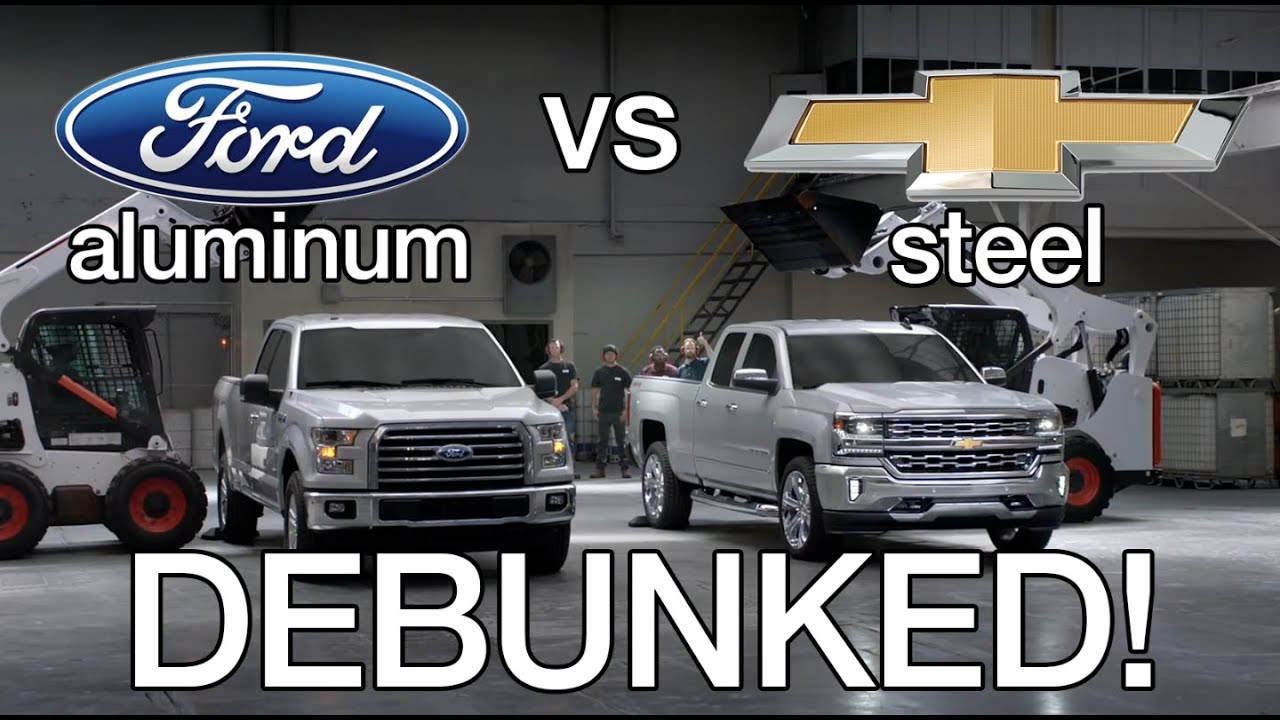 Silverado Vs F150 >> Debunking Chevy Silverado vs Ford F150 Aluminum Test Commercials! - YouTube