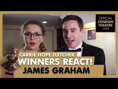 Winners Reactions - Olivier Awards 2018 -  Carrie Hope Fletcher interviews James Graham