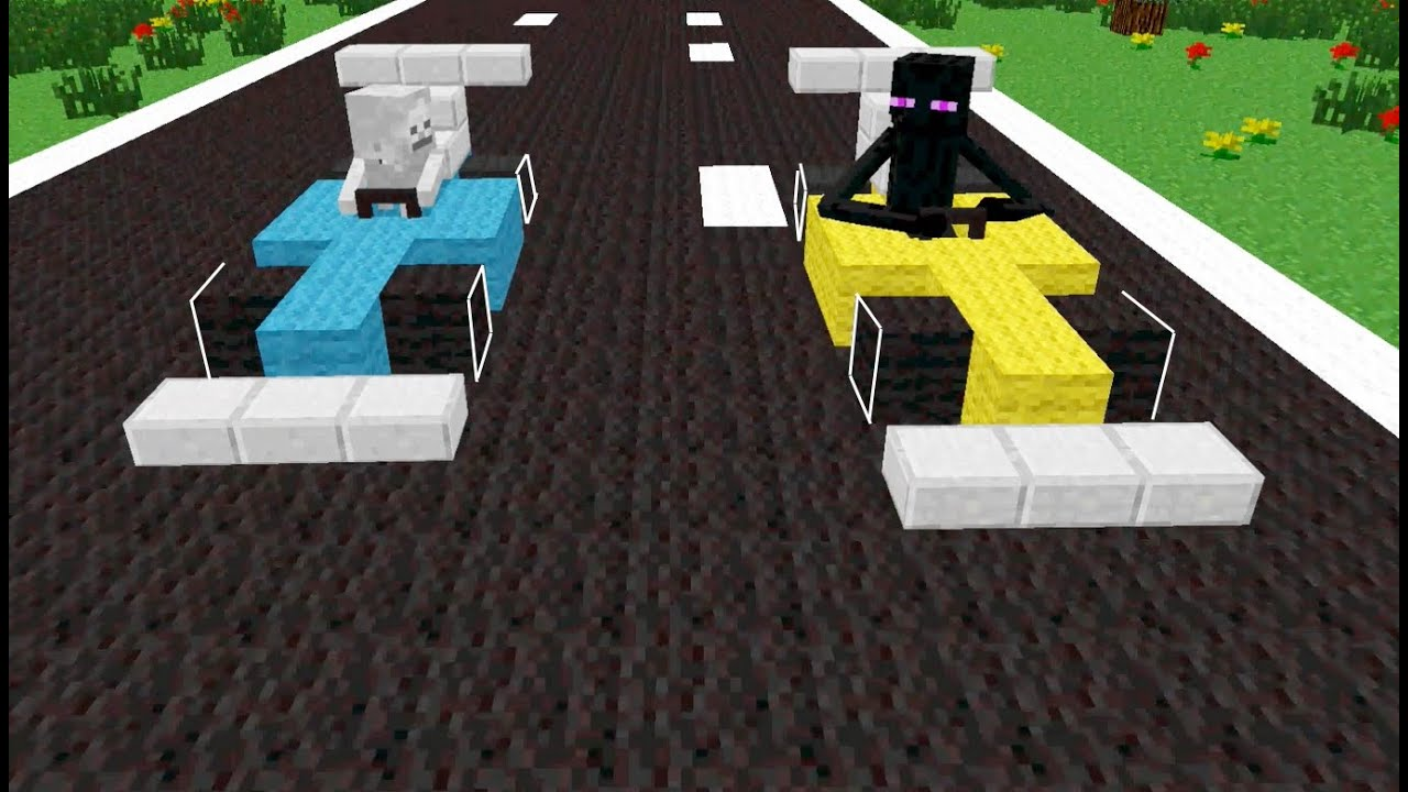 Monster School Drag Race Minecraft Animation Youtube