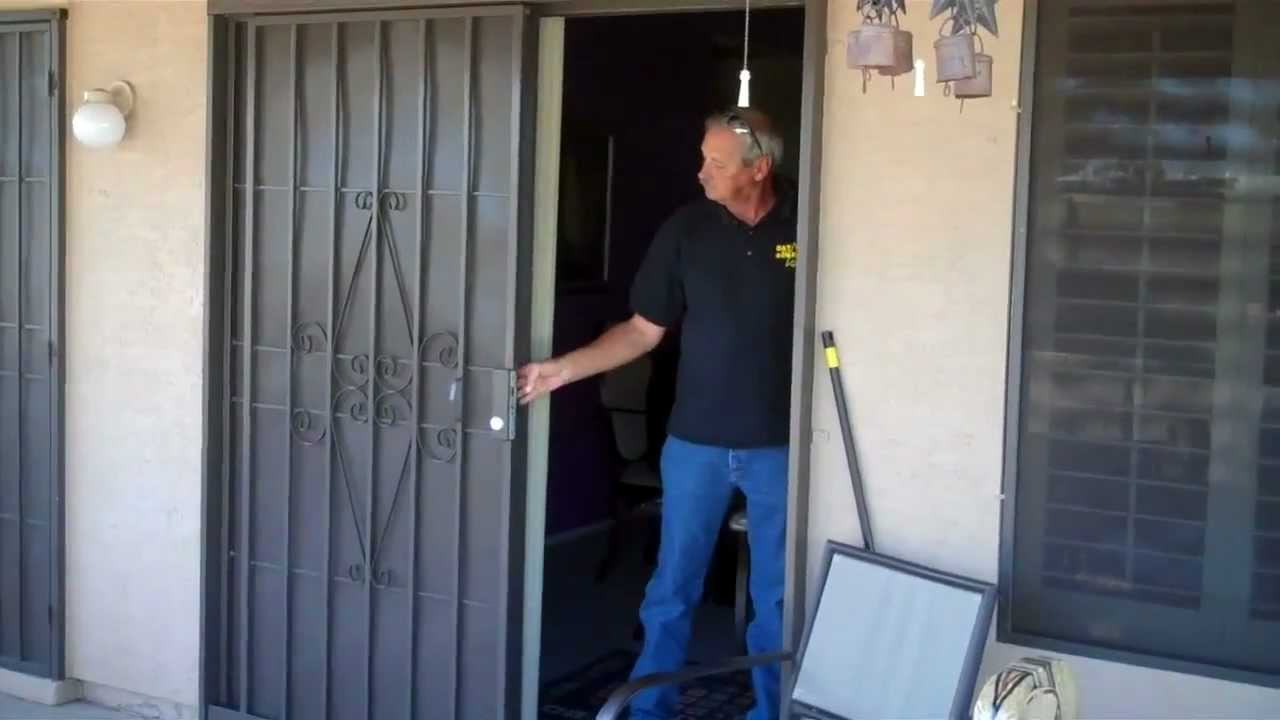 Sliding Patio Security Doors By Day Star Screens 480 986 286 Youtube