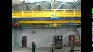 Кран мостовой опорный, тельфер передвижной - испытание(, 2016-02-10T13:22:36.000Z)