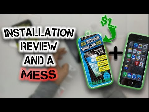 Did I Waste a Dollar? | $1 iPhone SE Screen Protector Installation Fail