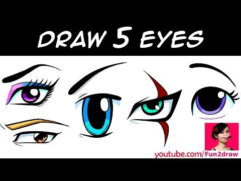 HOW TO DRAW 5 EYES | Art Drawing Tutorial! | Mei Yu