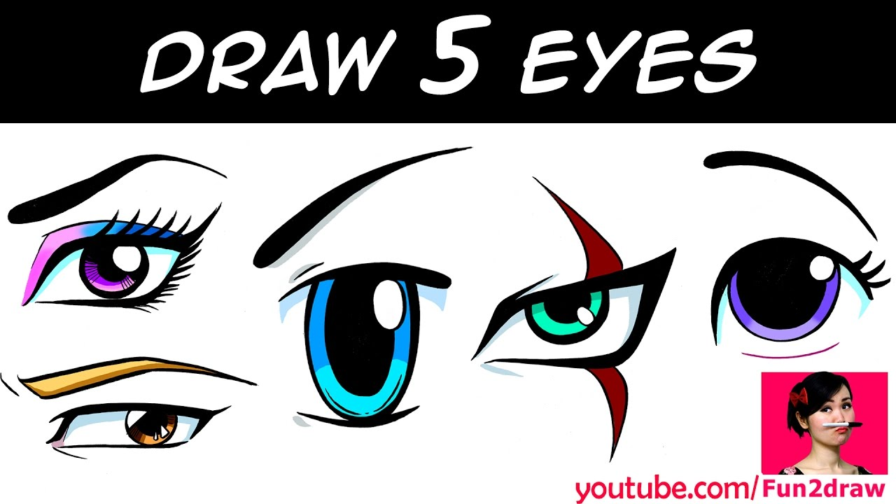 HOW TO DRAW 5 EYES
