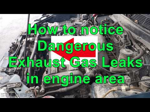 How to notice Dangerous Exhaust Gas leaks in engine area !
