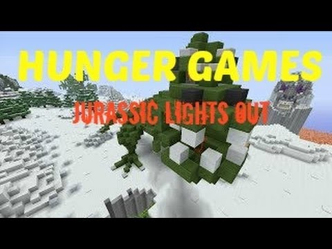 Minecraft(Xbox360) Jurassic Lights Out Hunger Games- I
