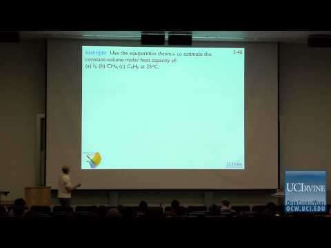 Thermodynamics and Chemical Dynamics 131C. Lecture 05. The Equipartition Theorum.