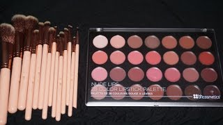 new bh cosmetics nude lipstick palette and nude chic brush set