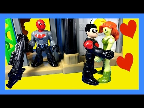Imaginext Movie Return of the Red Hood with Nightwing, Poison Ivy, and Batman Toy Video (Chapter 1)