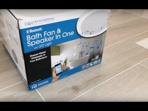 Home Netwerks Bath Fan Light & Speaker All In One from Home Depot