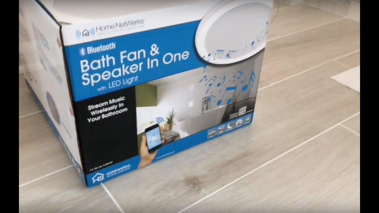 home netwerks bath fan light speaker all in one from home depot